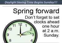 Daylight Savings tomorrow, Dance competitors especially